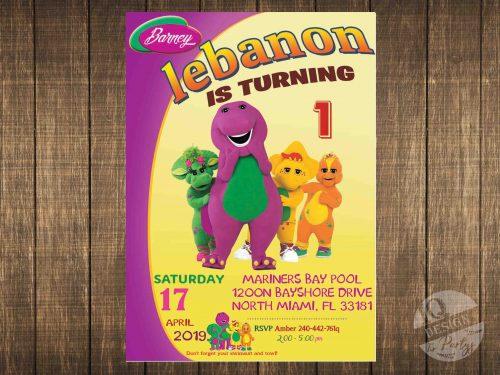 Barney invitation