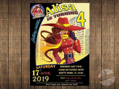 Carmen Sandiego invitation