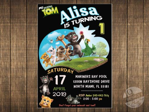 Talking Tom invitation