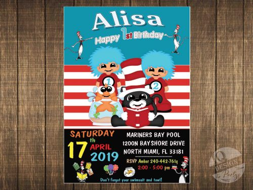 Cat In The Hat invitation