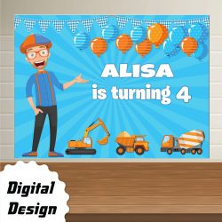 Blippi Backdrop Birthday