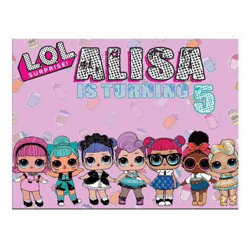Lol Dolls Backdrop Birthday