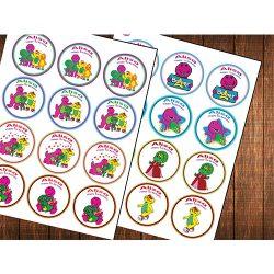 Barney Cupcake topper