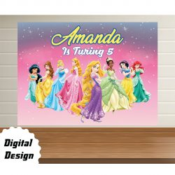 Disney Princess backdrop