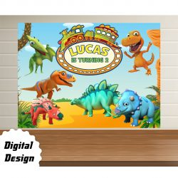 Dinosaurs Train backdrop