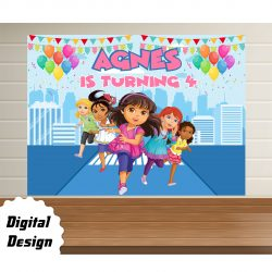Dora Friends Backdrop
