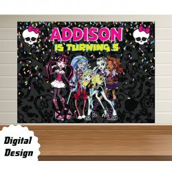 monster high Backdrop