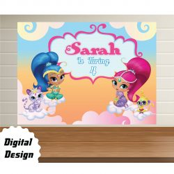 Shimmer shine Backdrop
