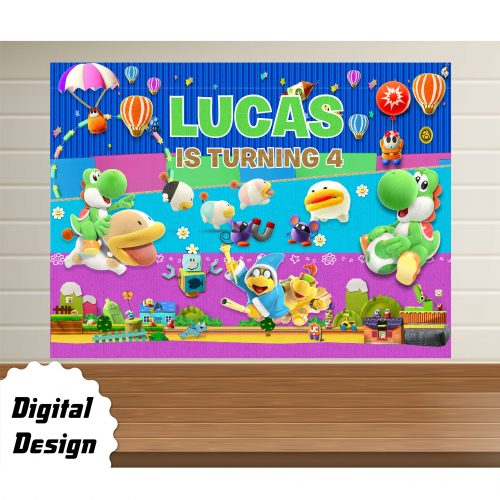 Yoshi's Crafted World Backdrop