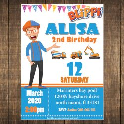 Blippi invitation party