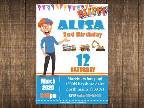 Blippi invitation party
