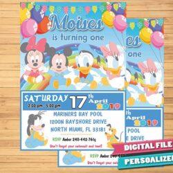 Baby Mickey, Baby Mickey birthday, Baby Mickey invitation, Baby Mickey invite, Baby Mickey party, birthday invitation, birthday invite, Digital invitation, party invite